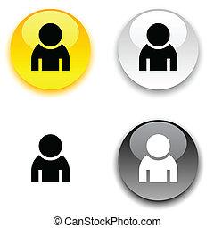 button., person