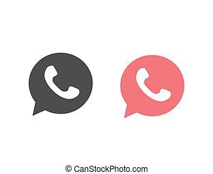 Button phone with shadow. Icon set logo, symbol, app, web, ui. Vector