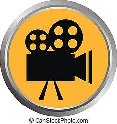 (button)., pictogram, vector
