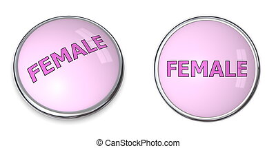 Button Pink Word Female