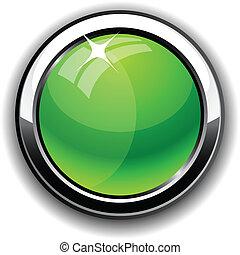 button., połyskujący