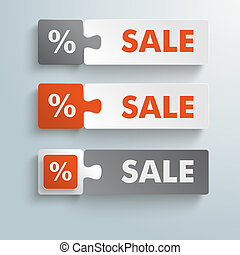 Button Puzzles Reduced Sale PiAd - Infographic design on the...