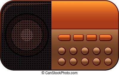 Button radio icon, cartoon style