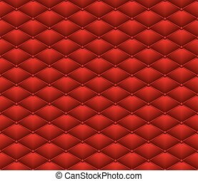 Button Red Leather seamless pattern