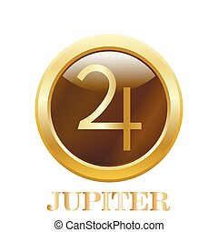 button., redondo, brillante, júpiter