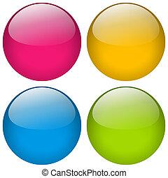 Button Round Set