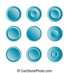 Button round with gradient set