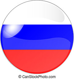 button russia - illustration of a button russia