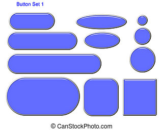 Button Set 1 - Blue