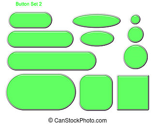 Button Set 2 - Green