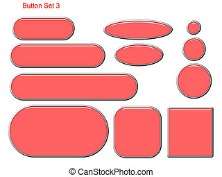 Button Set 3 - Red