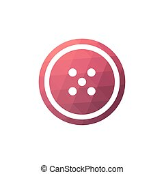 Button sewing icon.