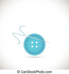 Button Sewing Illustration