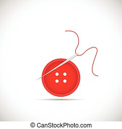 Button Sewing Illustration - Illustration of a button,...