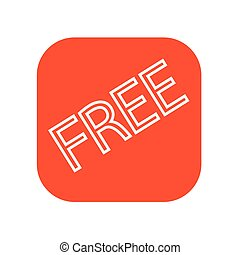 button sign free icon