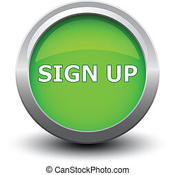 button sign up 2d