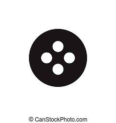 button simple geometric symbol logo vector