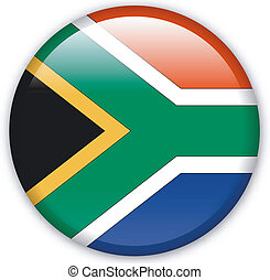Button South Africa - Button with map from South Africa