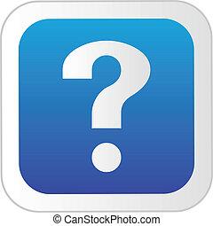 button., spørgsmål marker, grønne
