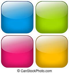 Button Square Set