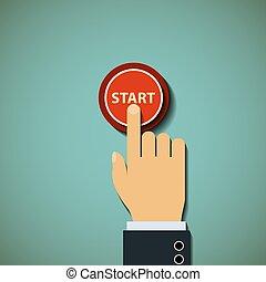 button. Stock illustration.