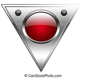 button in metallic and red
