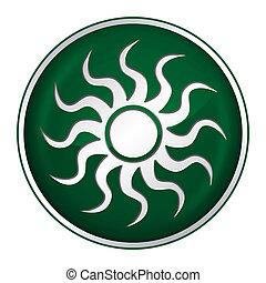 Button sun green