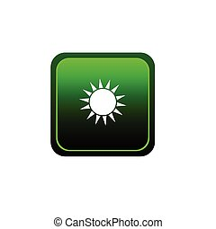 button sun vector illustration