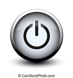 button switch off on 2d on white background