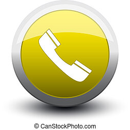 button telephone call 2d yellow