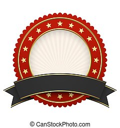 Button template red with black banner