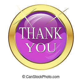 "button that says ""Thanks"""