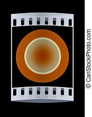 Button. The film strip