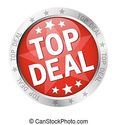 Button with banner and text Top Deal