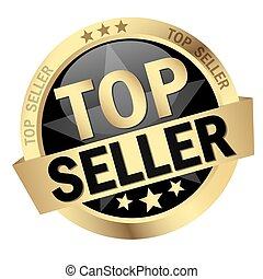 Button - TOP SELLER - vector of colored isolated button TOP ...