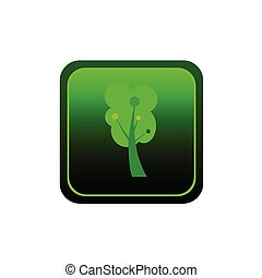 button tree green vector