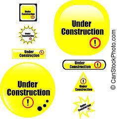 button under construction website