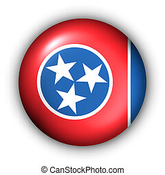 Button USA State Flag