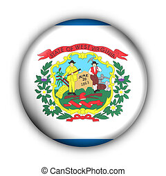 Button USA State Flag