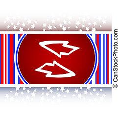 Button web icon with arrow set