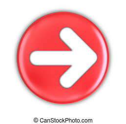 Button with arrow sign. Image with clipping path