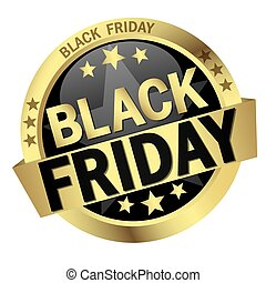 Button with Banner Black Friday