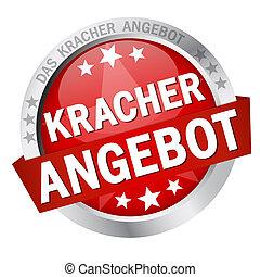 Button with Banner Kracherangebot