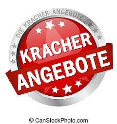Button with Banner Kracherangebote