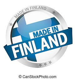 Button with Banner MADE IN FINLAND