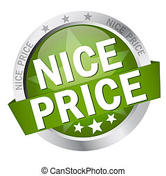Button with Banner nice price