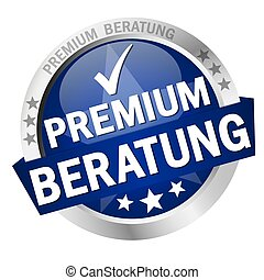 Button with Banner premium consulting (in german) - EPS 10 ...