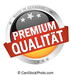Button with Banner PREMIUM QUALITÄT