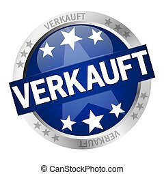Button with banner Verkauft