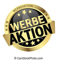 Button with banner Werbeaktion